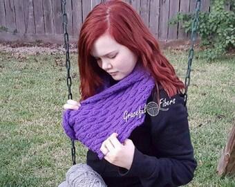 Budding Violet Cowl Knit Pattern