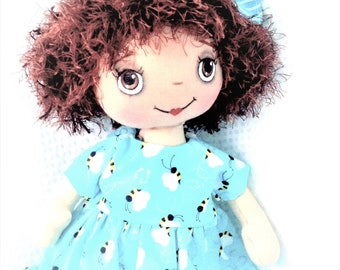 Doll, raggedy doll,  cloth doll, child friendly doll, rag doll, handmade doll, one of a kind.