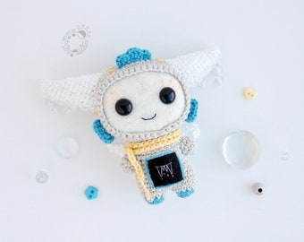 Spring Drops, March - The Space Travellers Months - handmade amigurumi plush tiny cutie