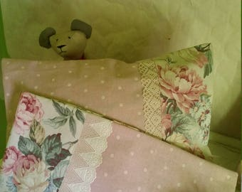 Vintage pink pillow cover
