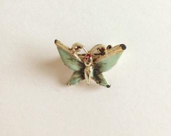 Vintage Green Butterfly Brooch/Pin