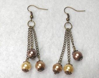 Earrings pearls fall