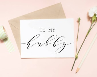to my hubby card, to my husband, to my husband card, hubby, wedding day card, for my husband card / SKU: LNWD12