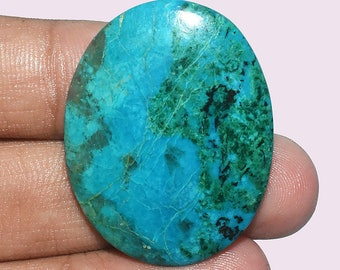 Natural Top Quality Chrysocolla AAA gemstone - Chrysocolla Jewelry - Chrysocolla stone - Chrysocolla cabochon 44.50 Cts 36x28x5 MM AM 2304