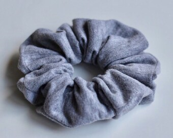 Heather Grey Scrunchie
