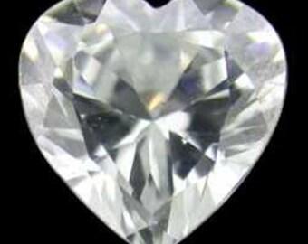 Cubic Zirconia Heart Shape 5x5mm (Pkg of 5)  (CZHT5X5)