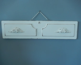 Shabby Wall Decor - Painted Cottage Decor - Hanging Antique Drawer - Vintage Dresser - Shabby White Wall Decor - Refashioned Drawer