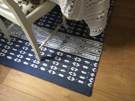 blue white rug scandinavian rug custom size rugs kitchen