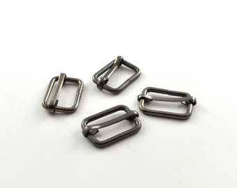 Earrings sliding black 20 mm set of 4 colors