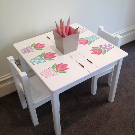 Items Similar To Desk And Chair Set Tulip Table And
