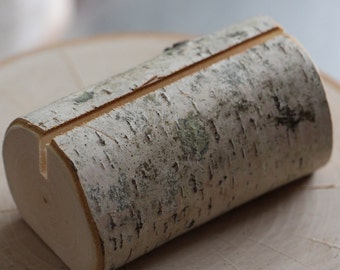 Set of 5 Birch Branch Log Style Table Number Holders