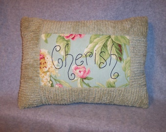Cherish Chenille Pillow