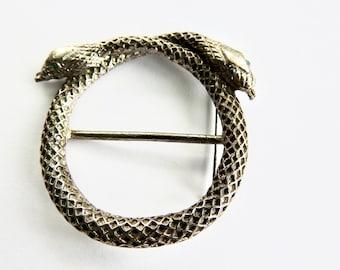 Snake Circle Brooch