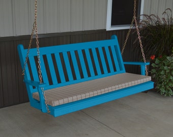 Porch Swing Traditional Style - Options 2', 4', 5' or 6' Free Shipping