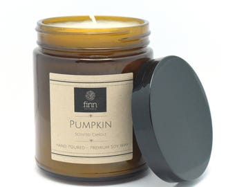Hand Poured Premium PUMPKIN Scented Soy Candle ~ Perfect For Fall ~ 9 oz