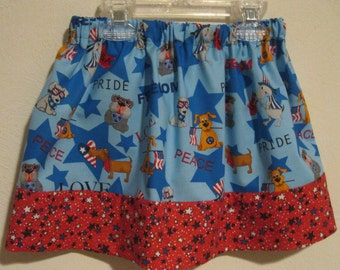Fourth of July Skirt for your Little Girl