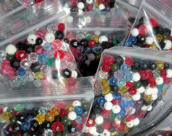 4-8mm Assorted Colored Acrylic Round Beads