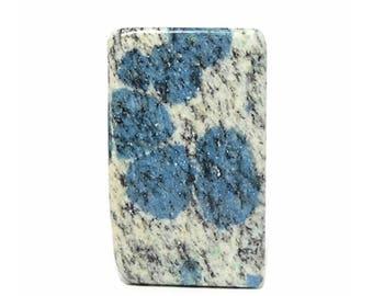 K2 Azurite in Granite Polished Plank Gem Stone, Semiprecious Jewel, DIY Jewelry Craft Making Gemstone