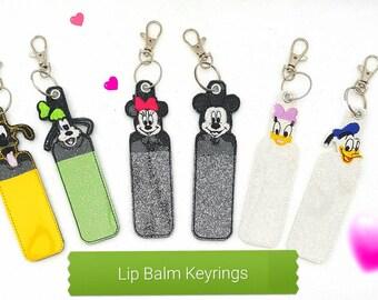 Disney Inspired Lip Balm Key Ring