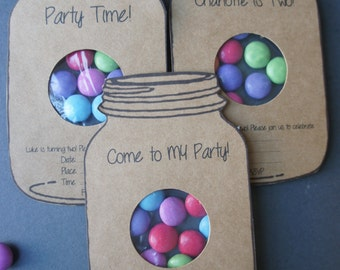 Mason Jar Party Invites