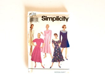 Simplicity 8120, Women's Dress Pattern, Size 12 - 16, Vintage Uncut Pattern