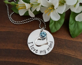 Mimi Necklace | Grandmother Necklace | Gift For Mimi | Grandma Necklace | Personalized Necklace For Mimi | New Grandma Necklace | Mimi Gifts