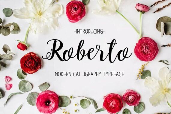 Modern calligraphy script font download digital font wedding
