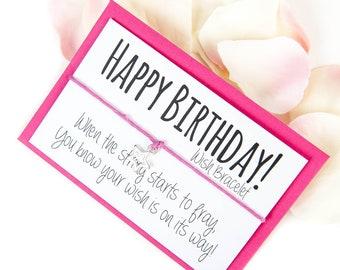 SALE - Happy Birthday Wish Bracelet - Birthday Bracelet - Happy Birthday Gifts - Sale Items - On Sale - Gifts under 5 - Spring Sale