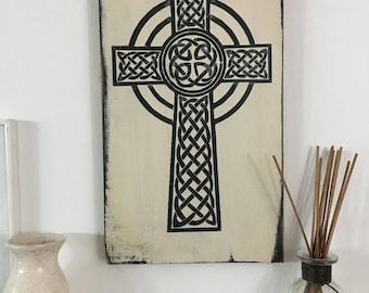 Celtic Cross sign,aged cross signs,antiqued religious signs, celtic signs.irish sign,religious signs,celtic art,