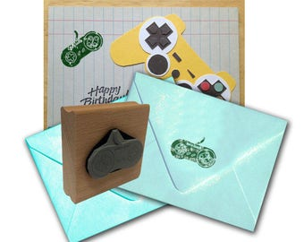 Game Controller Rubber Stamp