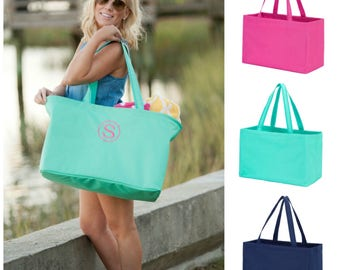 Personalized Tote, Ultimate Tote, Monogrammed Beach Tote, Personalized Beach Tote