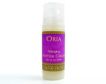 Peptide Cream by Oria, 1oz, peptide moisturizer, peptide serum, face moisturizer, face cream, face serum, face lotion, antiaging cream