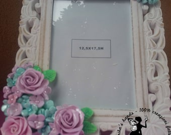 Polymer clay flower frame