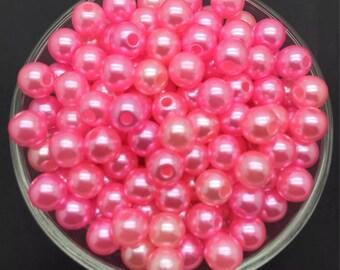 20 bead size is 10mm fuchsia pink