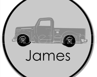 Personalized Truck Plate - Truck Plate - Old Fashioned Truck Birthday Plate - Bowl - Personalized Toddler Gift - Christmas Gift