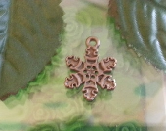 1 pendant of Tibetan style, for Christmas day, mixed shape, nickel, red copper, 20mmx20 mm, hole: