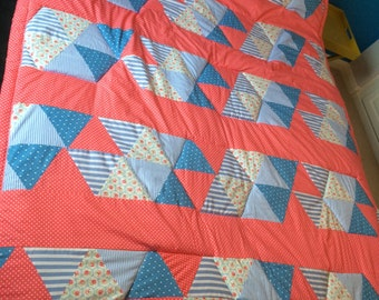 Patchwork quilt - gorgeous handmade vintage style!