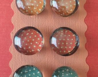 """Magnets 3/4"""" Polka Dots"""