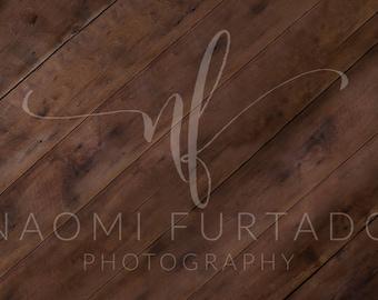 Digital Background - Brown Wood Floor