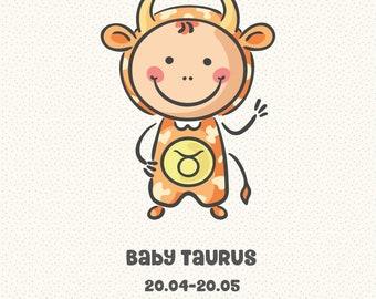 Baby Zodiac Taurus