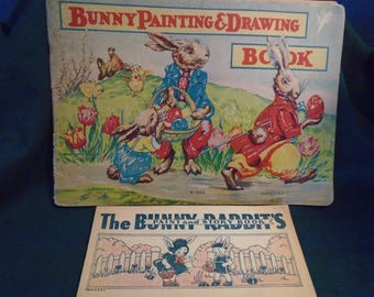 Pair of Vintage Easter Painting Books