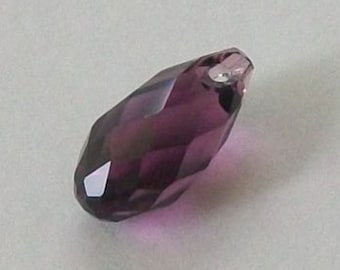 1 Swarovski Crystal Pendants  BRIOLETTE Pendant Style 6010 Amethyst Available in 11mm and 13mm