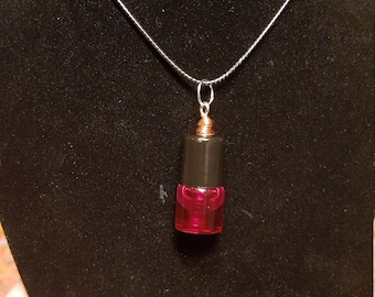 Rose essential oil pendant necklace
