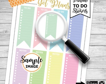 To Do Stickers, Checklist Stickers, To Do Printable Planner Stickers, Functional Stickers, Agenda Stickers, Planner Accessories