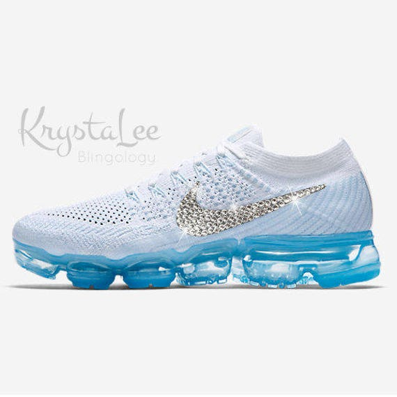 Nike Sneakers Women White/Blue Crystal Model:136