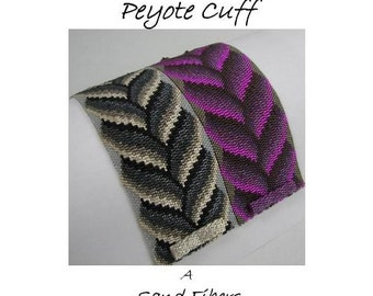 Peyote Pattern - Bargello Braid Peyote Cuff / Peyote Bracelet  - A Sand Fibers Original Beadweaving Pattern - 3 for 2 Program