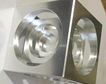 Turners Cube 2x2x2 inches - 6061 aluminum