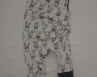 Romper scalable rabbit 3-12 m