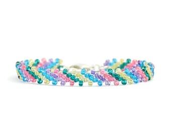 Girls Friendship Bracelet - Beaded Jewelry - Seed Bead Bracelet - Children's Jewelry - Multicolored Bracelet - Kids Jewelry