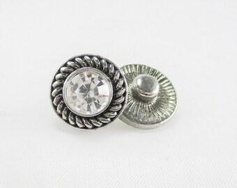 Mini Clear Rope mini snap charm,compatible with other Mini snap jewelry,like magnolia mini snaps,dot snaps,petite Ginger mini snaps